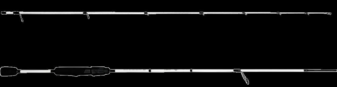 Strike-Spinnrute von der Marke Castalia in schwarz/weiß