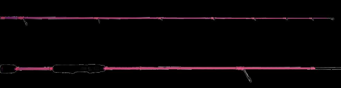 Strike-Spinnrute von der Marke Castalia in pink