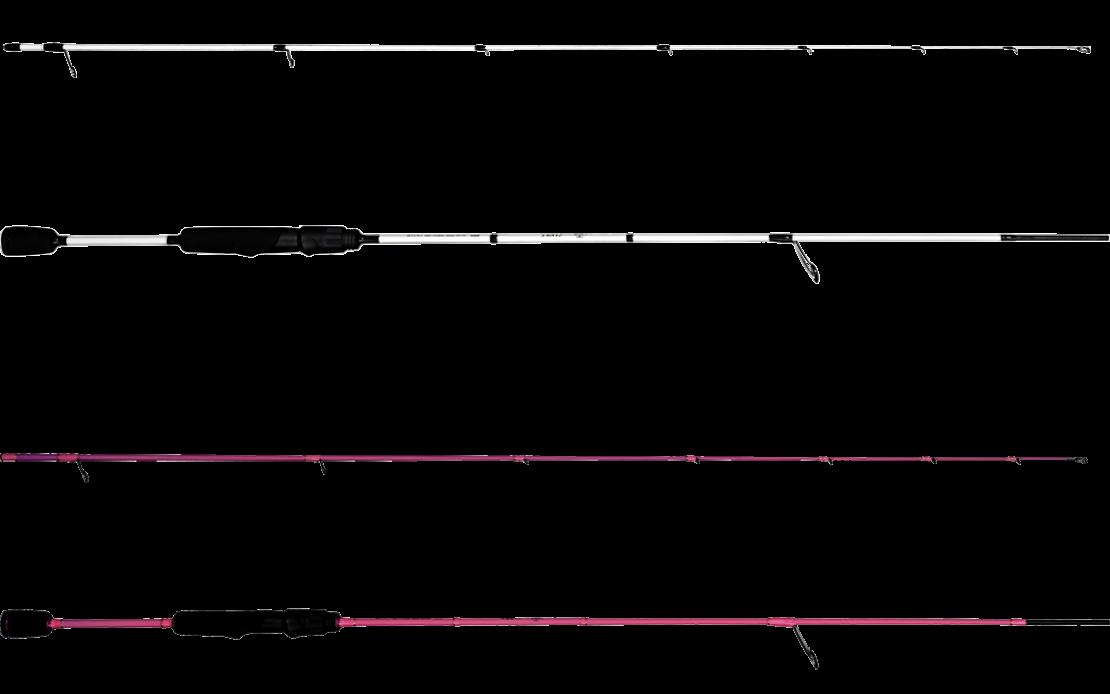 Strike-Spinnruten von der Marke Castalia in schwarz/weiß und pink