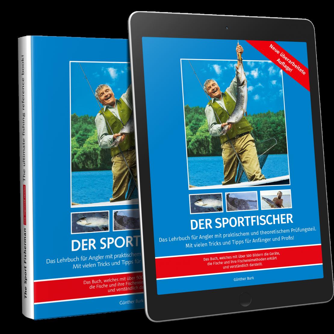 """Buch- und E-Book-Ausgabe von """"Der Sportfischer"""""""